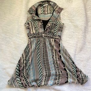 Pastel and black tribal boutique dress